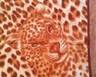 Square print Leopard