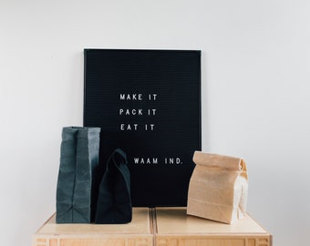 Lunch Bag in Natural // Waxed Canvas Lunch Bag // Lunch Bags // Canvas Lunch Bag