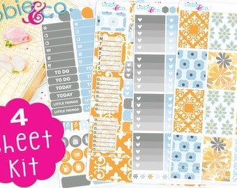 Tangerine Sky FULL WEEKLY (FWK).  Perfect for the Erin Condren Life Planner!!! FWK19