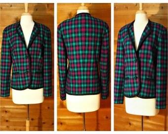 Vintage Pendleton coat, wool coat, wool jacket, women's coat, preppy coat, short jacket, collegiate coat, business coat, blazer jacket | 12