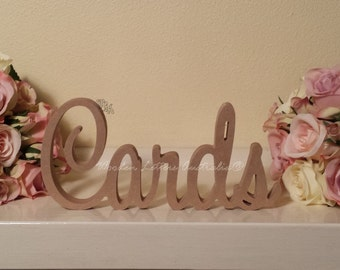 Cards Wooden Wedding Sign