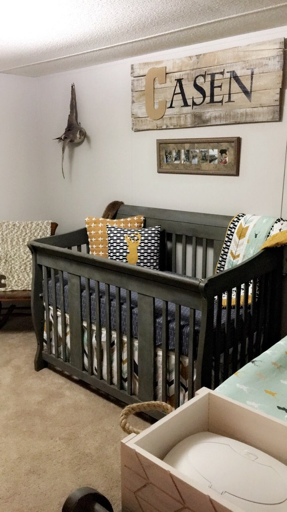 Crib Bedding Baby Boy Rooms: Crib Bedding Set Baby Boy Bedding Tribal Nursery Aztec Ducks