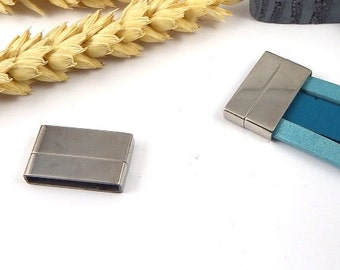 clasp magnetic end extra leather 20mm stainless steel