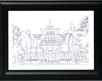 Custom Venue or Home Line Drawing/Illustration/Sketch