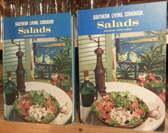 Vintage cookbooks: 2 identical copies 1968 (early) Southern Living cookbook