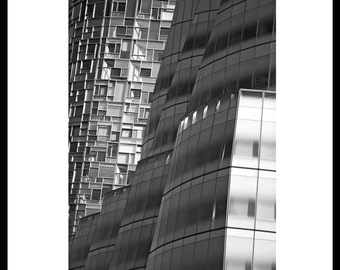 Modern Architecture: Vision Machine Luxury Apartment designed by Arch. Jean Nouvel (left) and IAC HQ by Arch. Frank Gehry