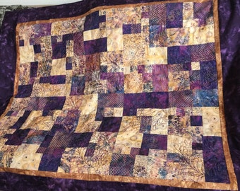 Gold and Purple Quilt