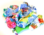 Fabric Scraps, Brightly Colored Quilting Scraps, One Gallon Grab Bag, Destash, by 8th Day Encore