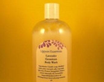 Lavender Geranium Body Wash 16 oz