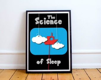 The Science of Sleep Art Print Illustration Poster