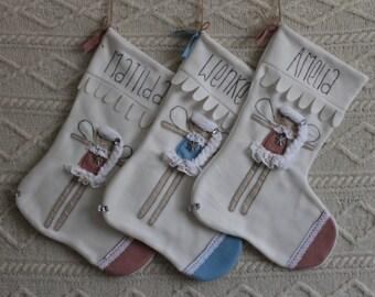 Handmade Personalized Christmas stocking