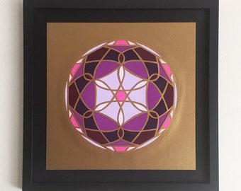 Original Papercut - Stained Glass No. 2 - Handcut Paper Art