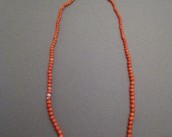 Rare red coral necklace 18""