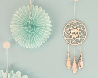 Dreamcatcher Personalised Lasercut from Wood