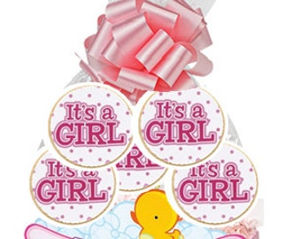 12pack Its a Girl Decorated Sugar Cookies