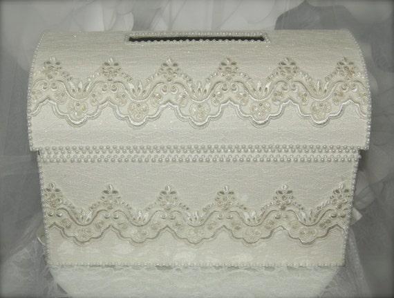 Treasure Chest Wedding Gift Card Box : treasure chest money box/wedding card box/ivory wedding card box