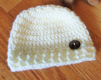 Crochet Baby Hat, Newborn Hat, Handmade Baby Gift, Neutral Baby, Baby Shower Gift, Baby Photo Prop, Infant Accessory, Newborn Accessory Item