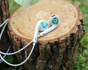 Monogrammed Decals for Ear Buds