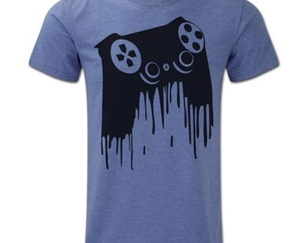 Playstation Controller Drip Male HD T-Shirt