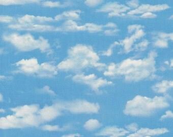 Landscape Medley - Light Blue Cloud Fabric - Elizabeth's Studio Fabrics- 100% Cotton Fabric