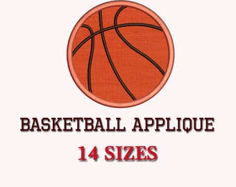 Basketball Ball Applique Machine  Embroidery Design, 14 Sizes, Digitized Pattern DIGITAL INSTANT DOWNLOAD 123