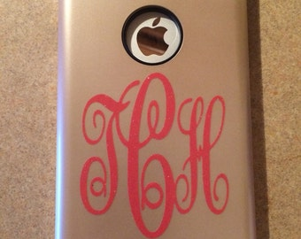Glitter Adhesive Monogram for cell phone case