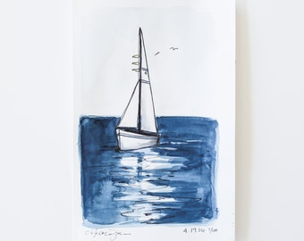 small sketch of a sailboat