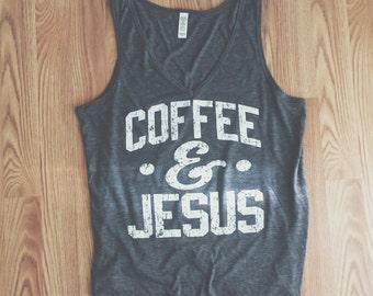 Coffee and Jesus Tank (Grey)