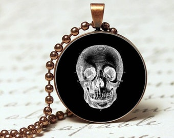 Skull gothic pendant necklace,