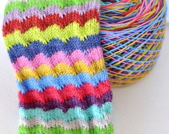 Hand Dyed Self Striping Yarn - It's Zombody's Birthday