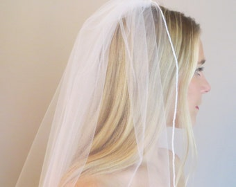 Wedding Veil with Rolled Edge Finish