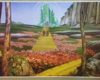 """The Wizard Of Oz The Emerald City GIANT WIDE 42"""" x 24""""  Movie Scene Poster Print"""