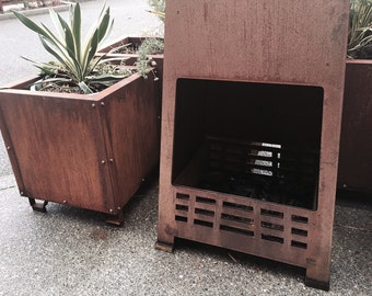 Outdoor FirePlace - Fire Pit - Weathering Steel