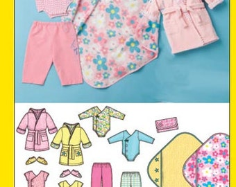 Simplicity sewing pattern 3711 Simply Baby, Body Suit, Pants, Lined Robe, Booties, Blanket, Baby Clothing + Accessories - new and uncut