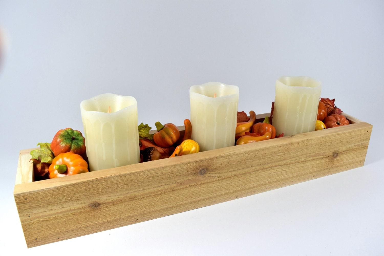 Rustic flower box table centerpiece decor wedding