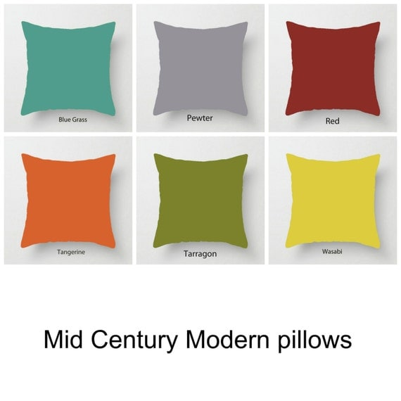 Solid Pillows Colourful Pillows Mid century modern cushions