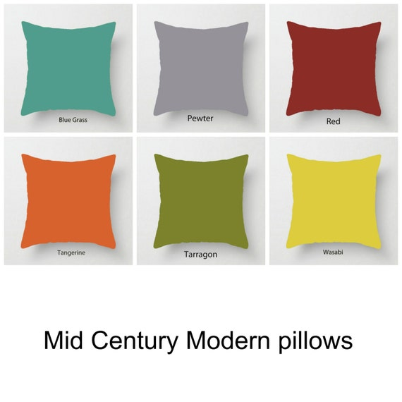Mid Century Modern Pillows Etsy : Solid Pillows Colourful Pillows Mid century modern cushions