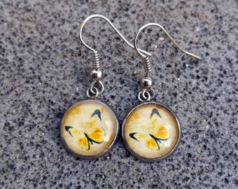 Earrings - Yellow Butterflies