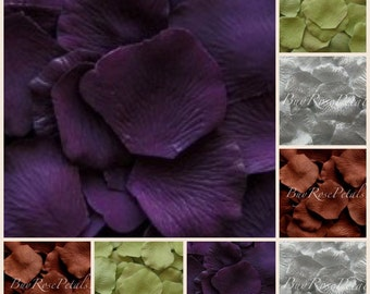 500 Silk Rose Petals -Plum- Sage-Brown Blend