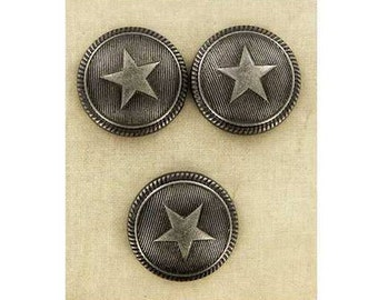 Star Shank Buttons - American - Western - SCA Heraldry
