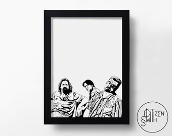THE BIG LEBOWSKI - F*ck It, Dude. Let's Go Bowling - The Coen Brothers - Hand-Drawn Film Art Print/ Movie Poster