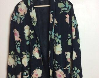 Floral Oversized Blazer