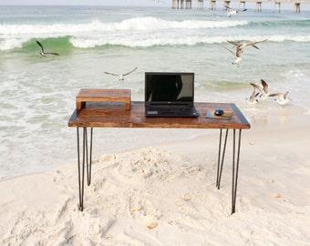 Desk, table, wood desk, computer desk, writing desk, rustic desk, industrial table, simple desk, custom desk, reclaimed table, farmhouse