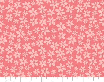 Pink Floral Cotton Fabric, Quilting and Patchwork Fabric - Fat Quarter