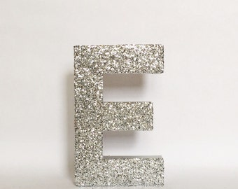 Silver or Gold Glitter Stand Up Letter - Initial - Monogram -Wedding - Engagement - Shower - Birthday - Party - Home Decor - Photo Prop