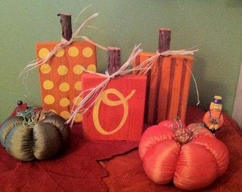 Handpainted Pumpkins personalized