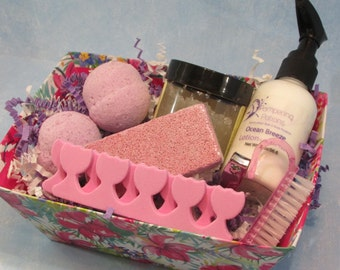 Pedicure Kit, Excellent for Nurses Tired Feet, Gift for Mailman, Princess Token of Love, Teacher Pampering Treat, Gift under 15, Spa Party