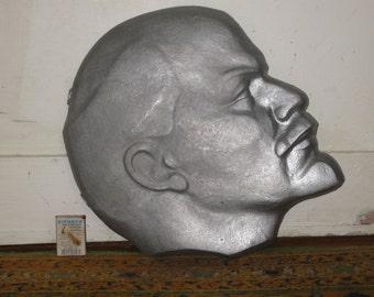 Great Amazing Soviet Era Lenin Plaque! Head of Lenin.