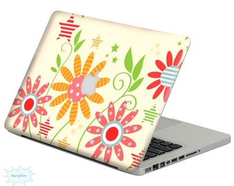 Flowers decal mac stickers Macbook decal macbook stickers apple decal mac decal stickers