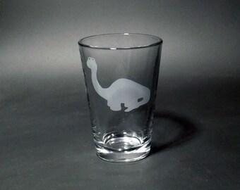 Apatosaurus Juice Glass - Dinosaur Glass - Jurassic Glass - Sauropod Juice Glass - Kid's Dino Glass - Children's Juice Glass - Dinosaur Gift